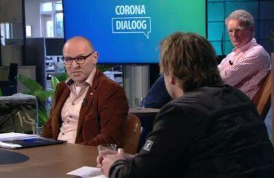 Dit is wat er gebeurt als je een journalist en corona-scepticus tegenover elkaar zet.