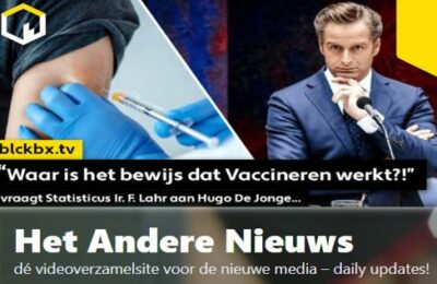 """""""Waar is het bewijs dat Vaccineren werkt?!"""" vraagt Statisticus Ir. F. Lahr aan Hugo De Jonge…"""