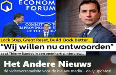 """Lock Step, Great Reset, Build Back Better. """"Wij willen nu antwoorden!"""" zegt Thierry Baudet in een openhartig interview…"""