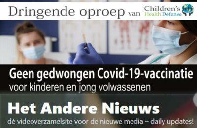 Dringende oproep van Children's Health Defense – Geen gedwongen covid-19 vaccinatie voor kinderen en jonge volwassenen