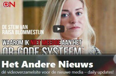 Rechtsgeleerde en filosoof Raisa Blommestijn: Waarom ik niet meedoe aan het QR-Code systeem
