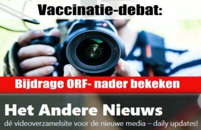 Debat over verplichte vaccinatie: bijdrage ORF op de proef gesteld