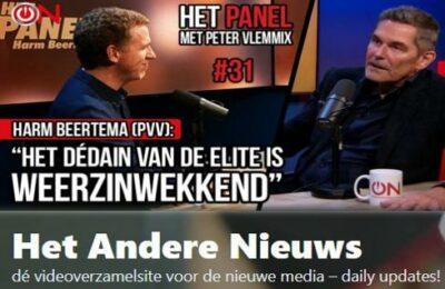 """""""Het dédain van de elite is weerzinwekkend"""" – Harm Beertema (PVV) in Het Panel"""